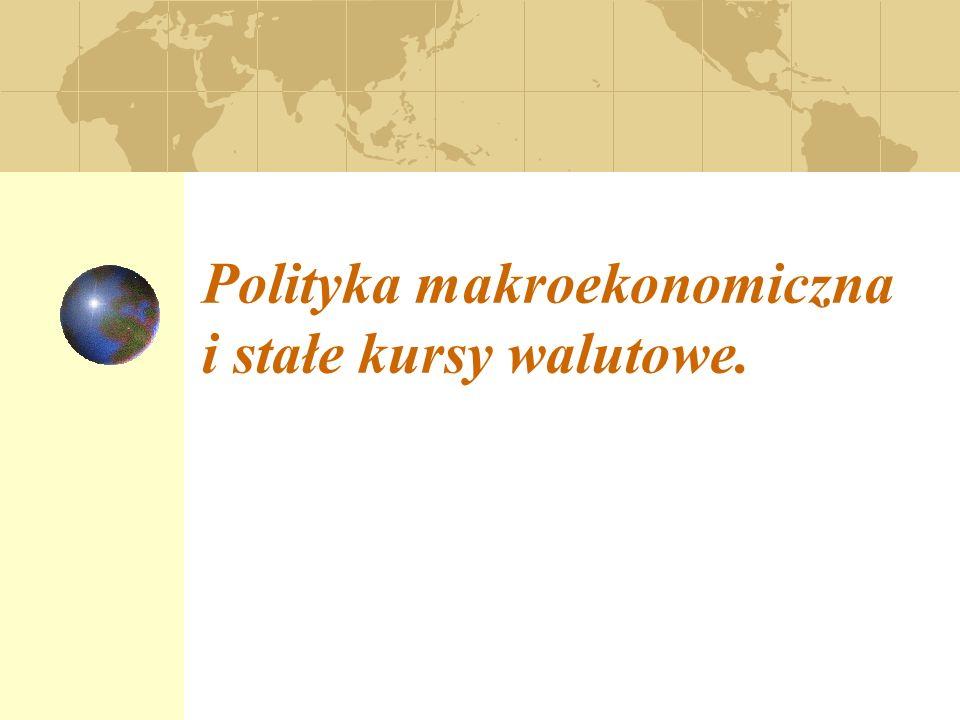 Polityka makroekonomiczna i stałe kursy walutowe.
