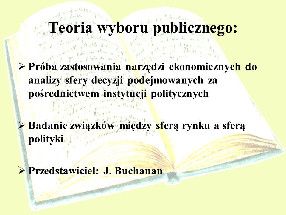 Teoria wyboru publicznego: Próba zastosowania narzędzi ekonomicznych do analizy sfery decyzji podejmowanych za pośrednictwem instytucji politycznych B