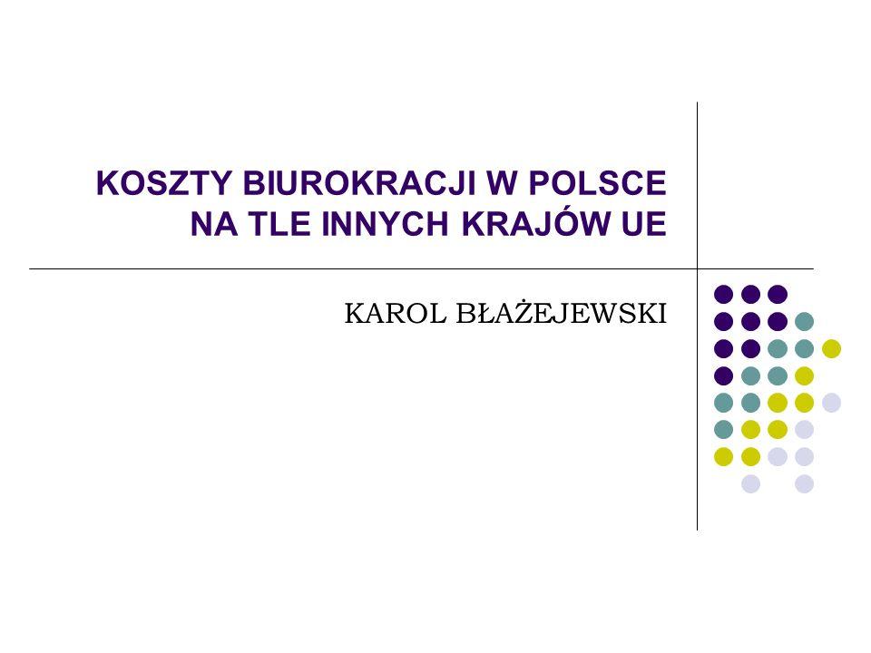 Pytania do dyskusji W jaki sposób zmniejszyć koszty biurokracji w Polsce.