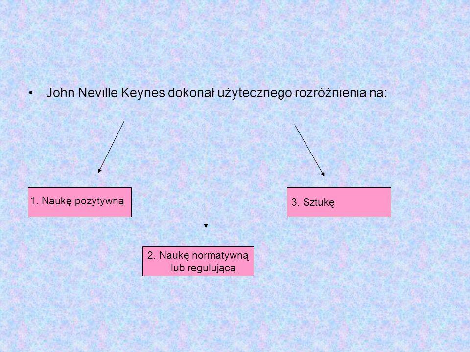 John Neville Keynes dokonał użytecznego rozróżnienia na: 2.