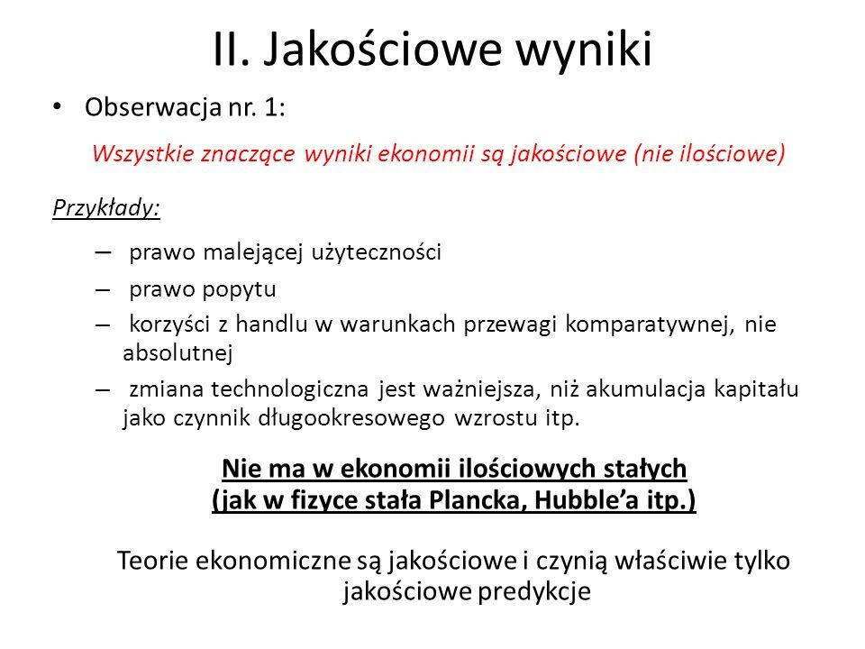 II. Jakościowe wyniki Obserwacja nr.