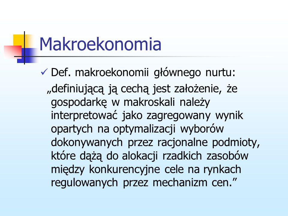 Klasyfikacja szkół w ekonomii Dla Garrarda punkt wyjścia do analizy współczesnej makroekonomii, Makroekonomia-spór między klasykami i keynesistami, Po