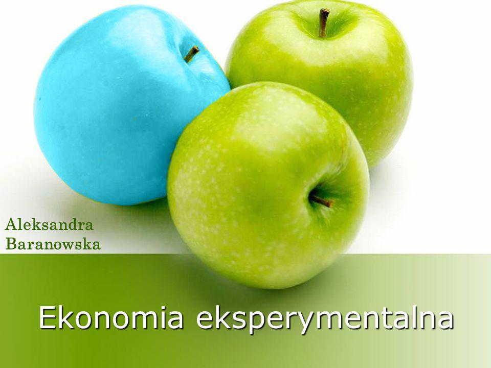 Ekonomia eksperymentalna Aleksandra Baranowska
