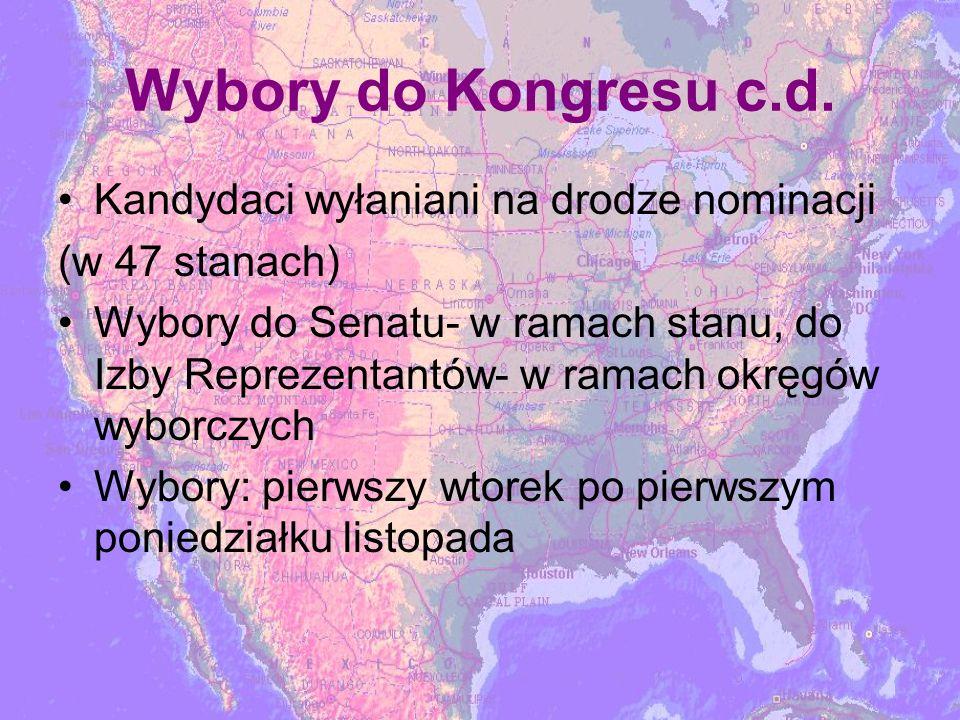 Wybory do Kongresu c.d.