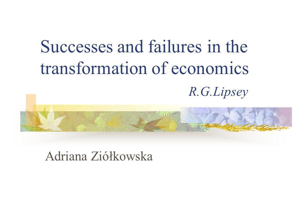 Przykłady osiągnięć polityki gospodarczej 1.