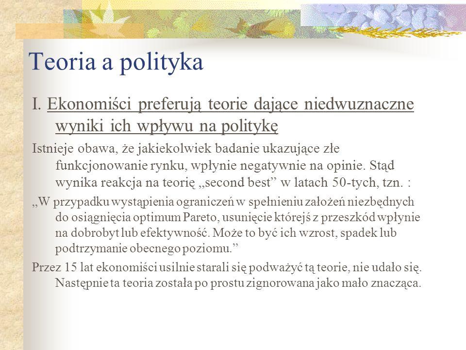 Teoria a polityka I.