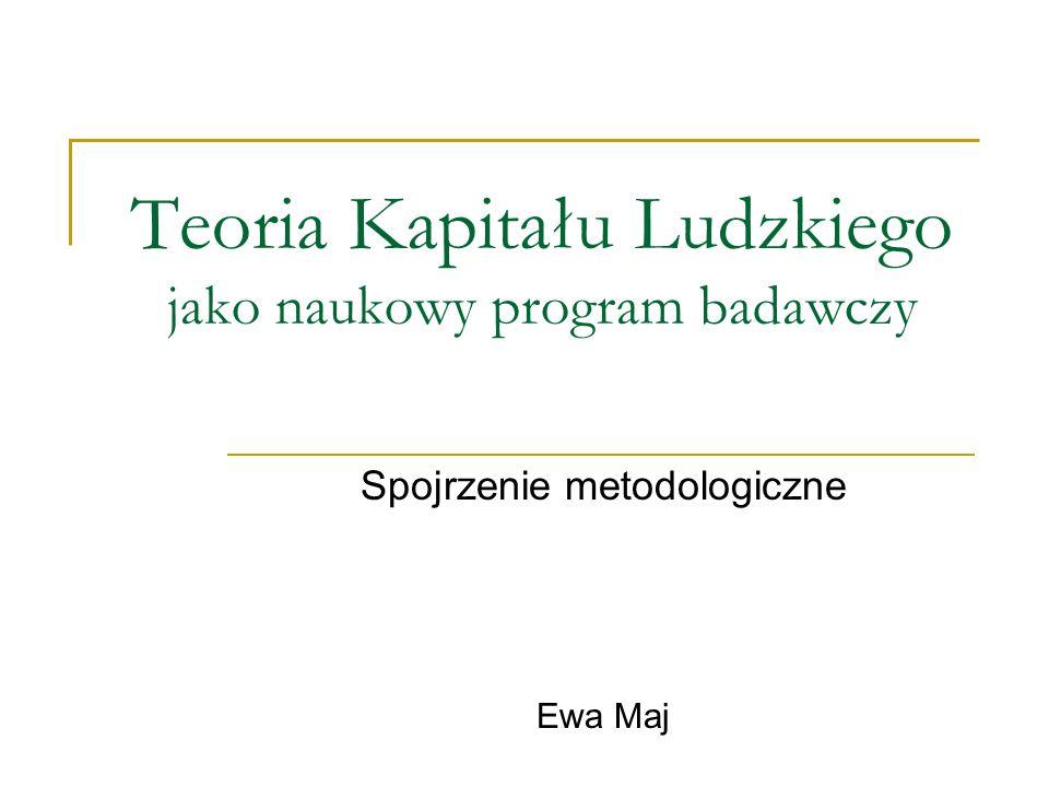 Plan Prezentacji 1.Naukowy Program Badawczy: wstęp teoretyczny 1.