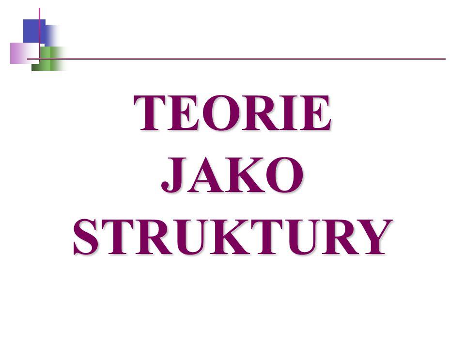 TEORIE JAKO STRUKTURY