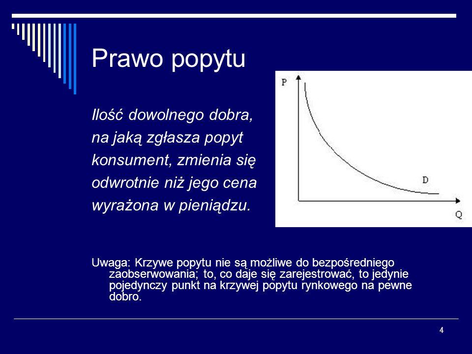 15 Teoria ujawnionej preferencji (TUP) Dalszy rozwój TUP daleko posunięte zaksjomatyzowanie logiczne rozróżnienie pomiędzy założeniami a wnioskami znika w doskonale zaksjomatyzowanej teorii Określenie wyboru jako racjonalny, oznacza w ramach TUP, że konsument woli więcej niż mniej, a jego wybory są spójne i przechodnie TUP i teoria użyteczności są logicznie równoważne