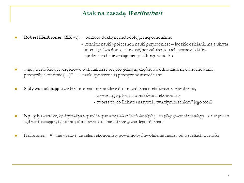 10 Atak na zasadę Wertfreiheit – cd.