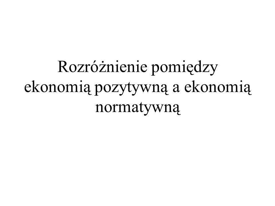 Rozróżnienie pomiędzy ekonomią pozytywną a ekonomią normatywną