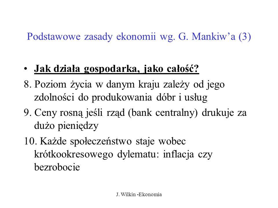 J.Wilkin -Ekonomia Podstawowe zasady ekonomii wg.