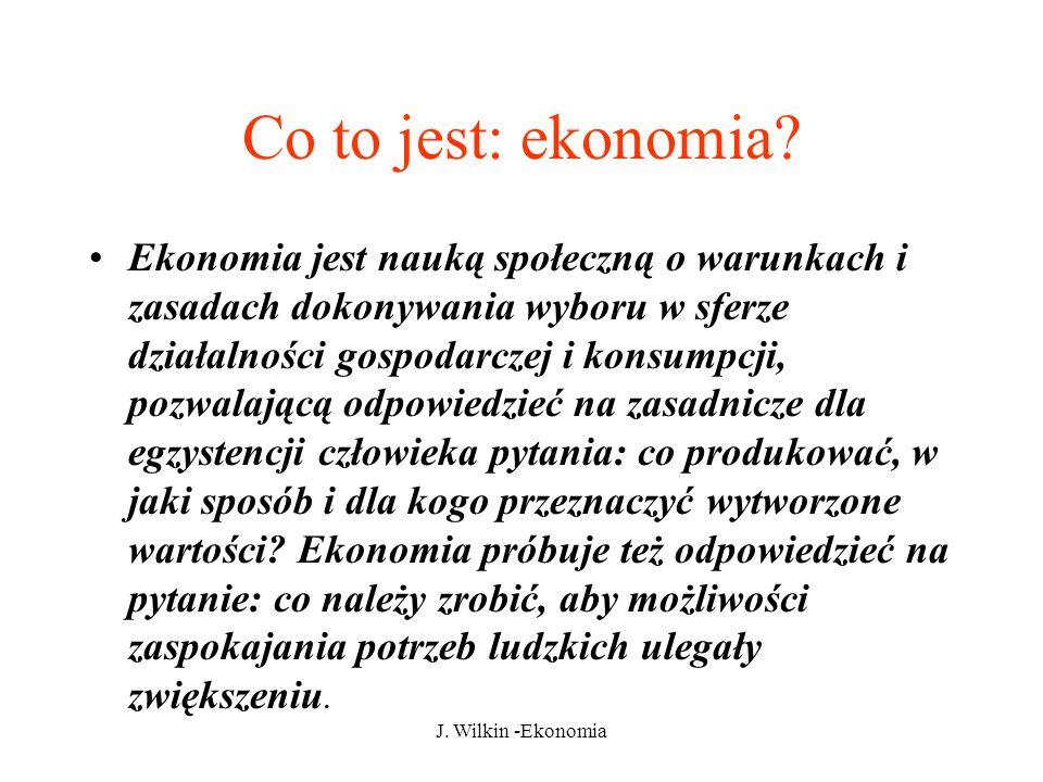 J.Wilkin -Ekonomia Co to jest: ekonomia.