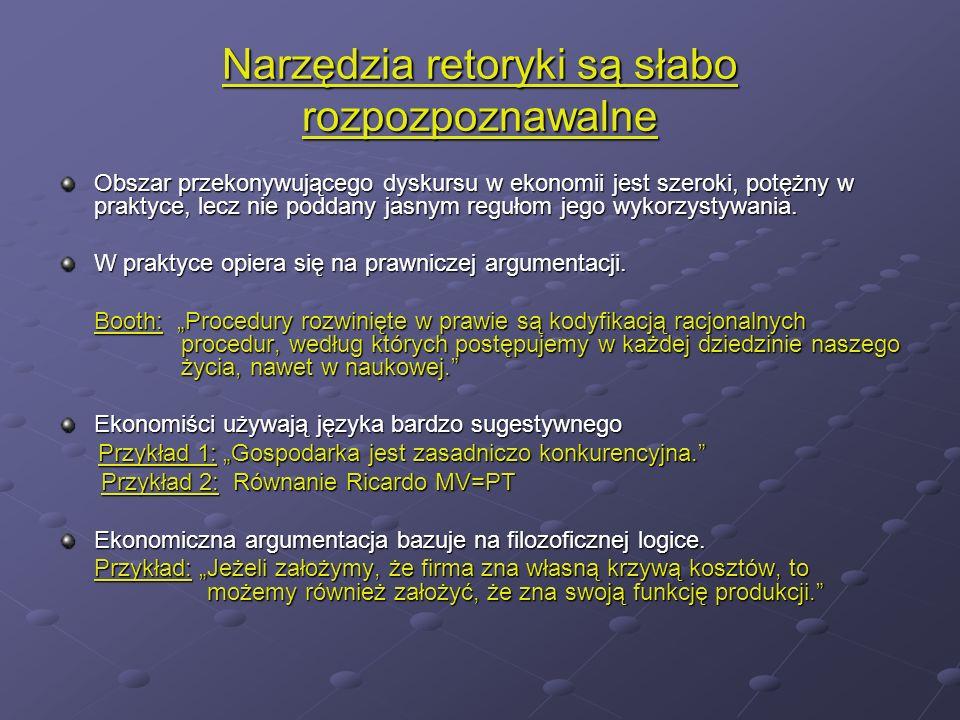 Ekonomia wnioskuje opierając się na badaniach jednostronnych (np.