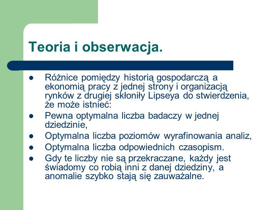 Teoria i obserwacja.