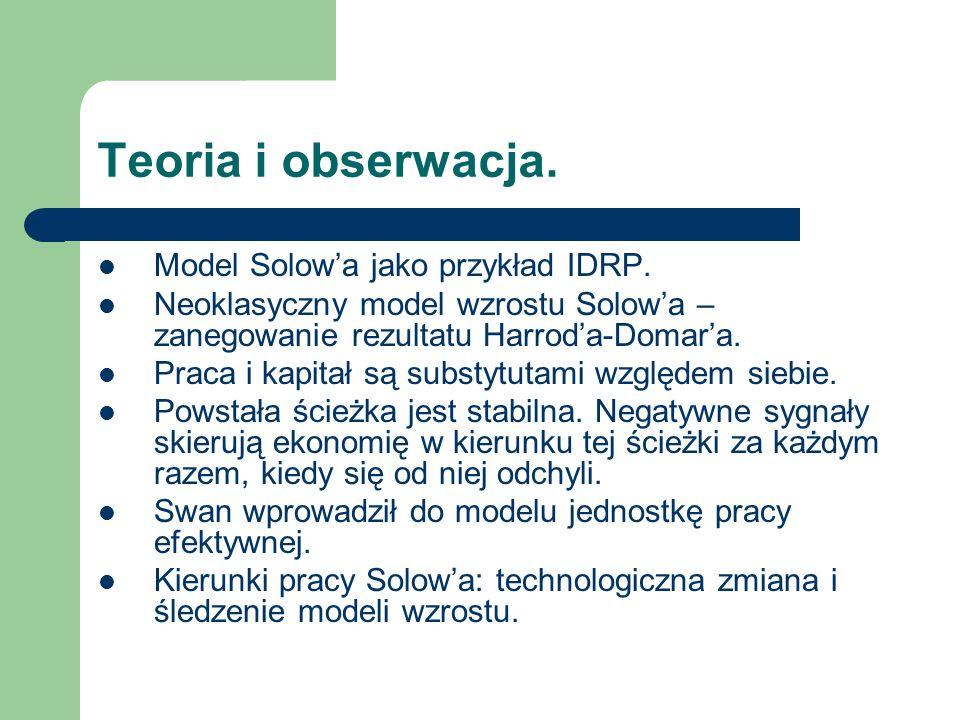Teoria i obserwacja. Model Solowa jako przykład IDRP.