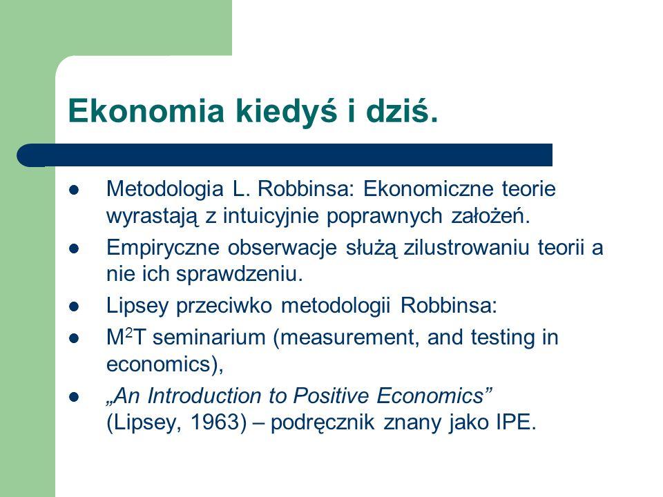 Ekonomia kiedyś i dziś. Metodologia L.