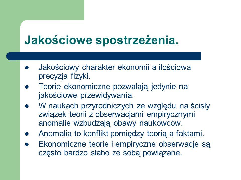 Teoria i obserwacja.Nowe wnioski Swana i Uzawa. 4 pytania Sena.