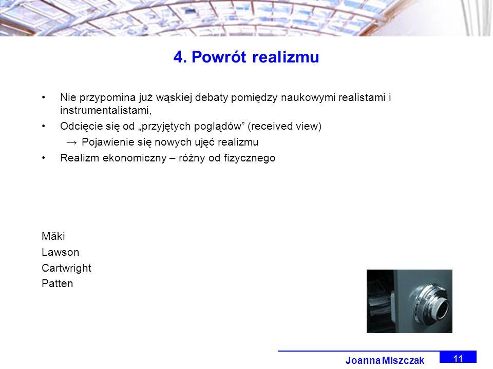 Joanna Miszczak 11 4.