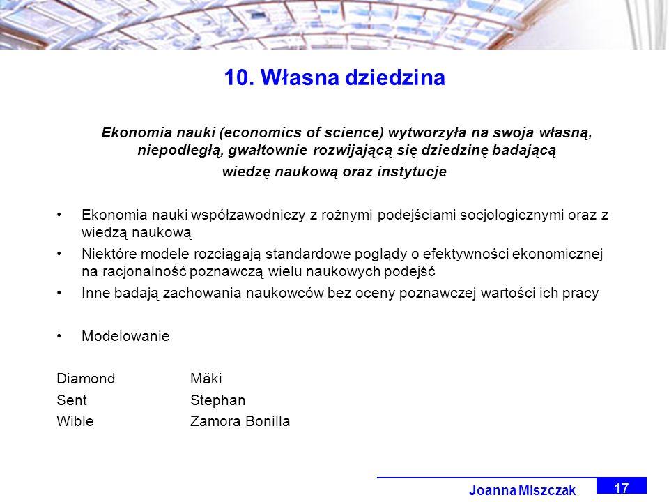 Joanna Miszczak 17 10.