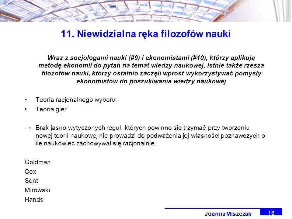 Joanna Miszczak 18 11.
