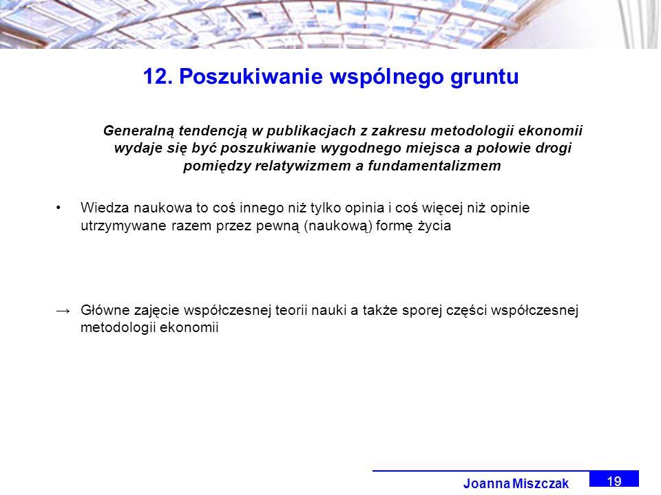 Joanna Miszczak 19 12.