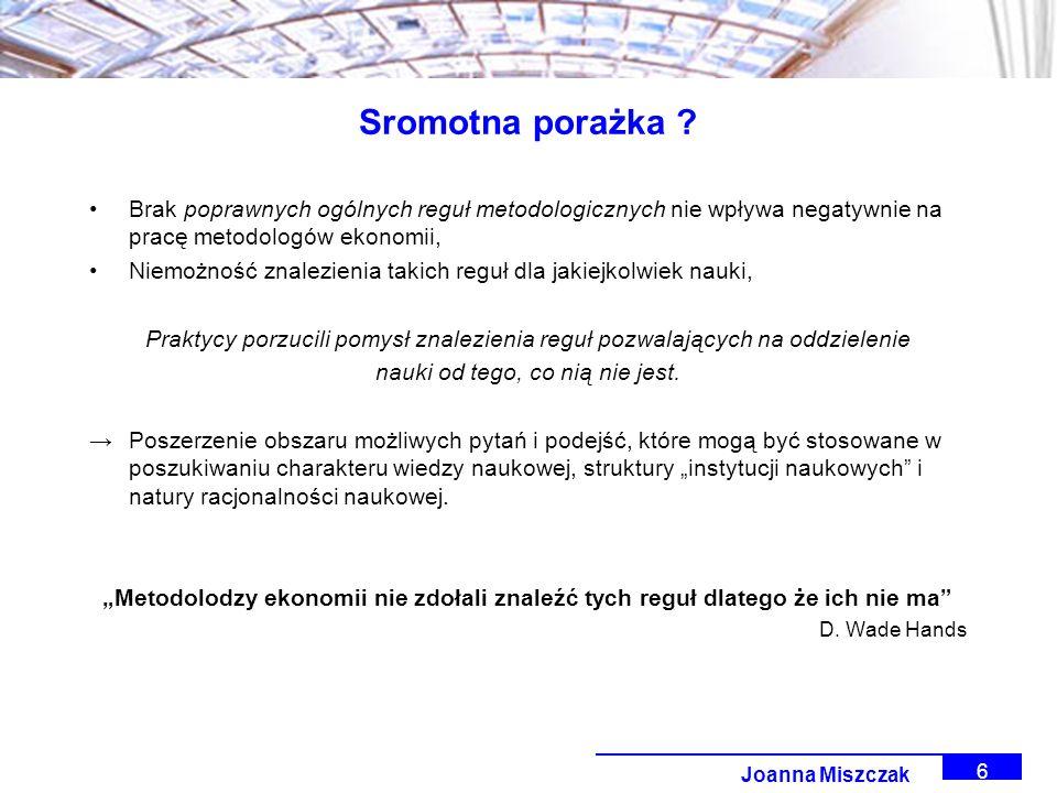 Joanna Miszczak 6 Sromotna porażka .