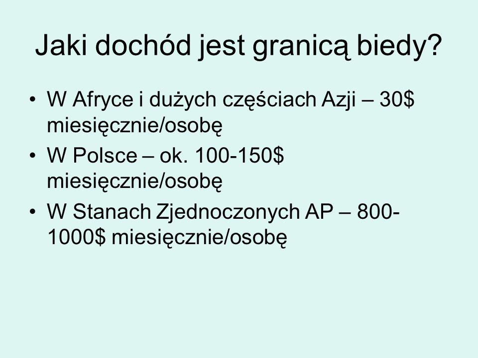 R.Kapuściński o biedzie Bogaci i biedni żyją w różnych światach.