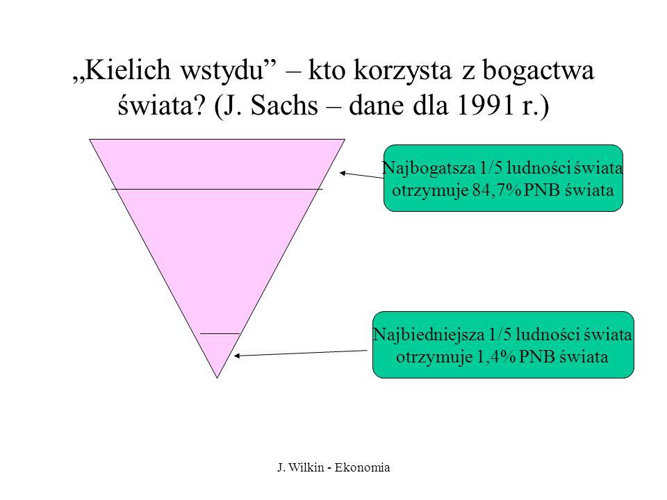 J.Wilkin - Ekonomia Kielich wstydu – kto korzysta z bogactwa świata.