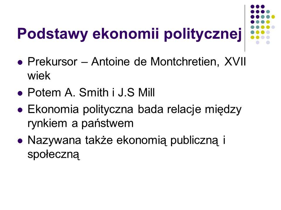 Klasyczna ekonomia polityczna Łączy ekonomię z filozofią i polityką Przedstawiciele: D.