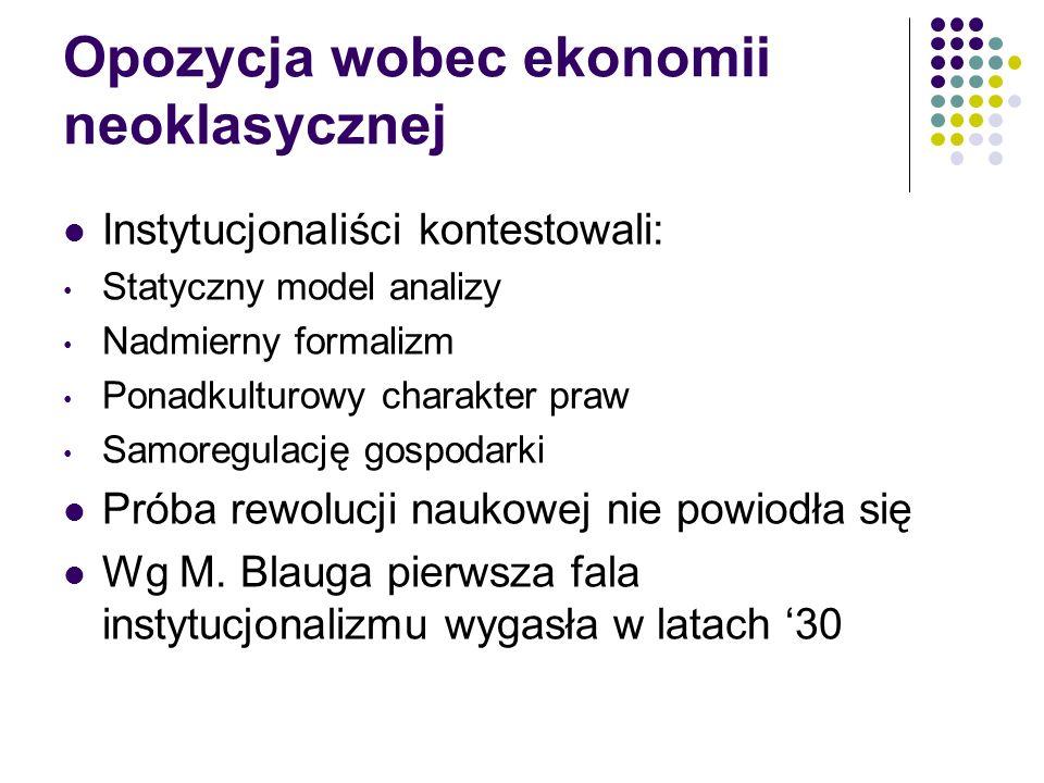Nowa ekonomia instytucjonalna G.