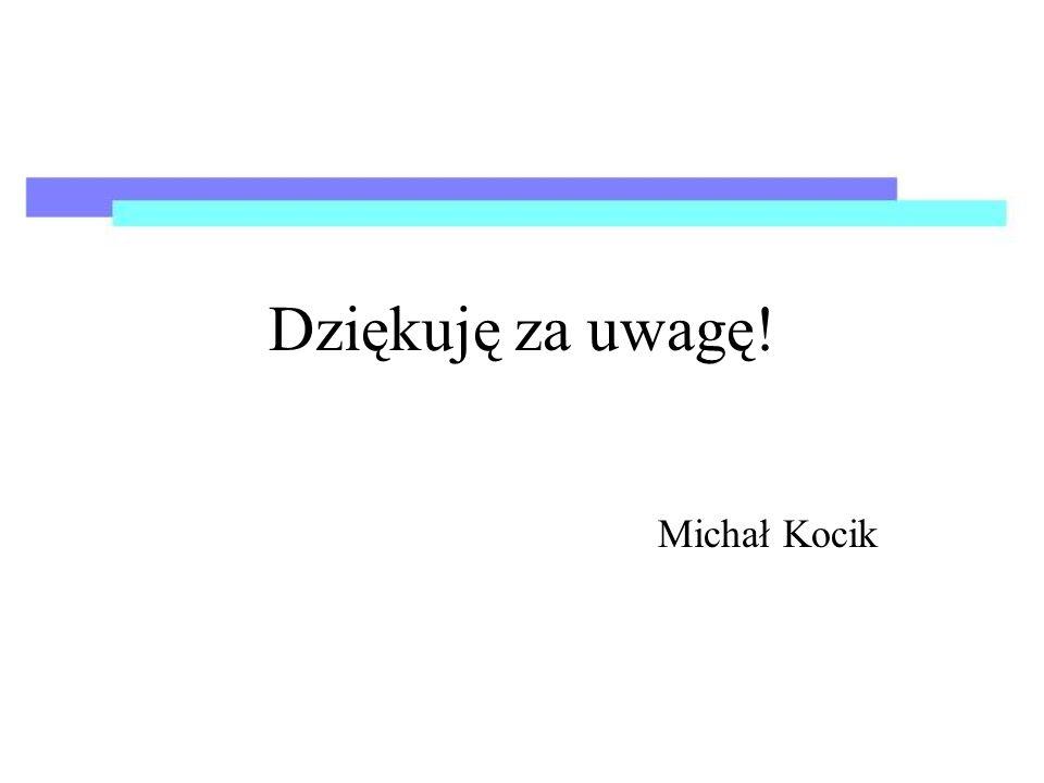 Dziękuję za uwagę! Michał Kocik