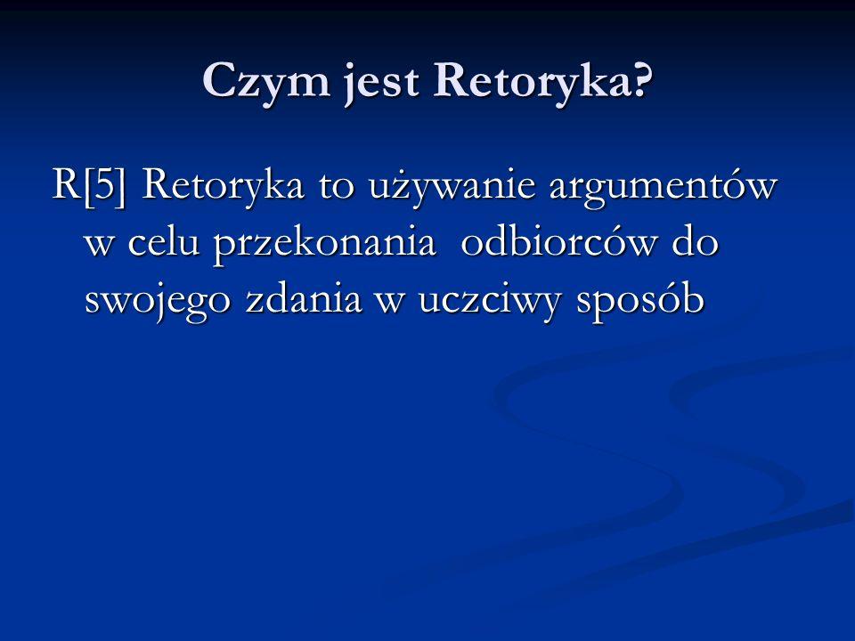 Czym jest Retoryka.