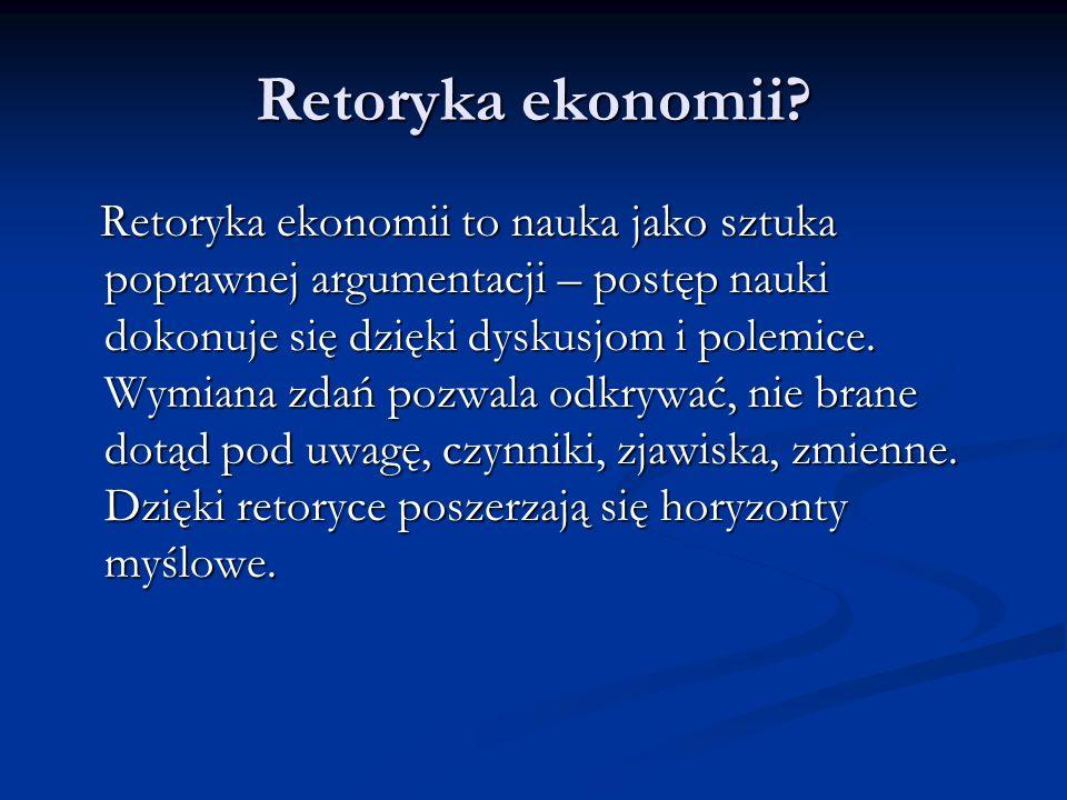 Retoryka ekonomii.
