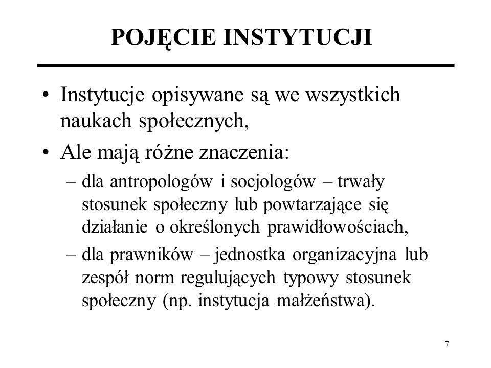 28 TRANSFORMACJA POLSKIEJ GOSPODARKI JAKO PROCES ZMIAN INSTYTUCJONALNYCH Prywatyzacja: Dlaczego w Polsce nie wprowadzono powszechnej prywatyzacji.