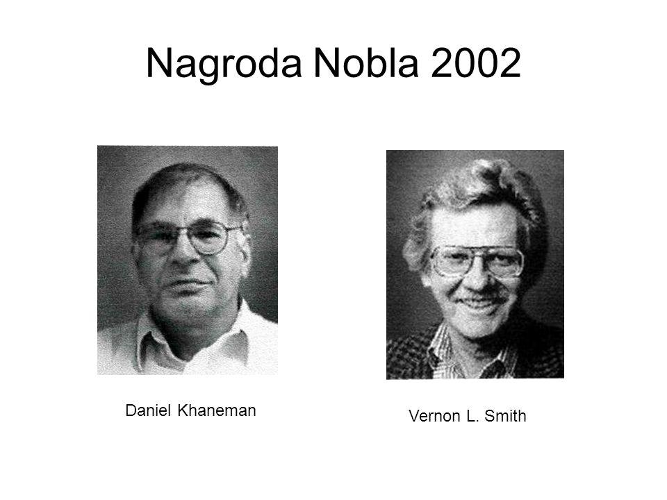 Nagroda Nobla 2002 Daniel Khaneman Vernon L. Smith