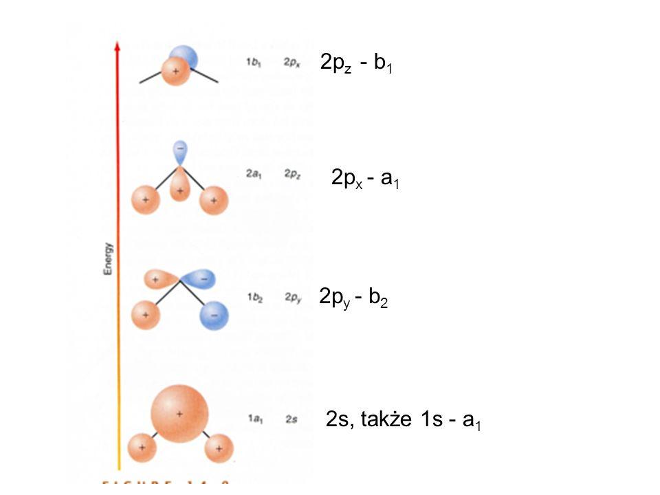 2p z - b 1 2p x - a 1 2p y - b 2 2s, także 1s - a 1