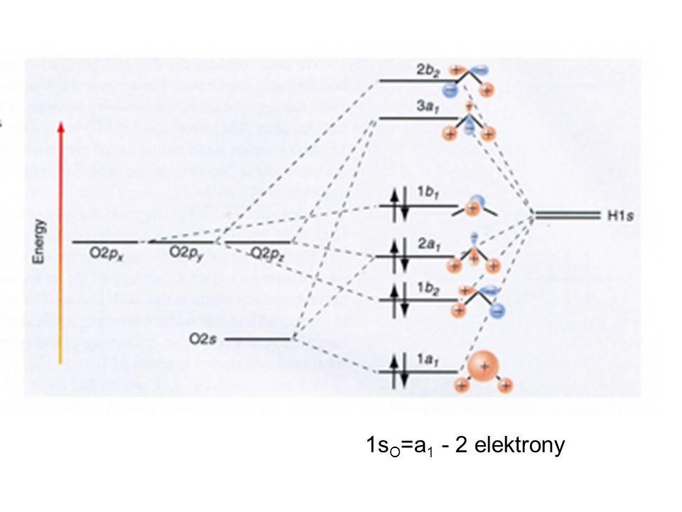 1s O =a 1 - 2 elektrony