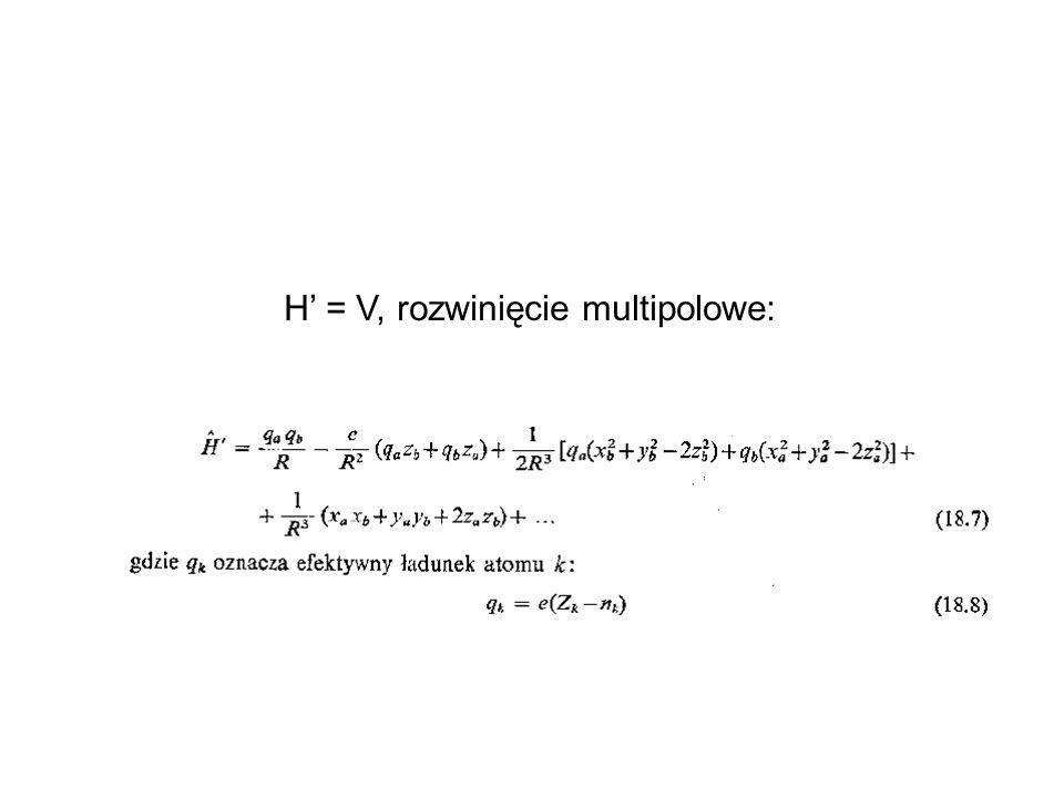 H = V, rozwinięcie multipolowe: