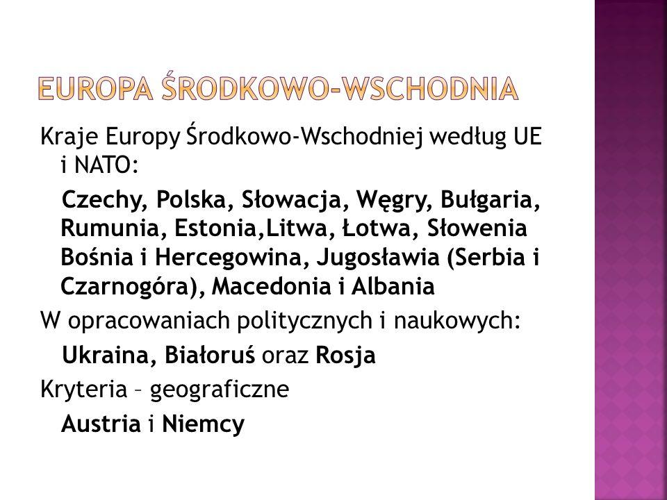 Polska Chorwacja Czechy Słowacja Serbia Węgry Czarnogóra Litwa Macedonia Łotwa Albania Estonia Bułgaria Słowenia Rumunia Bośnia i Hercegowina