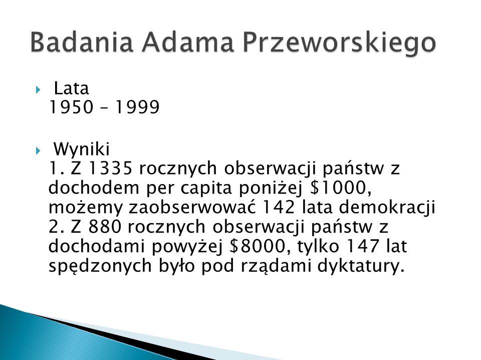 Lata 1950 – 1999 Wyniki 1.