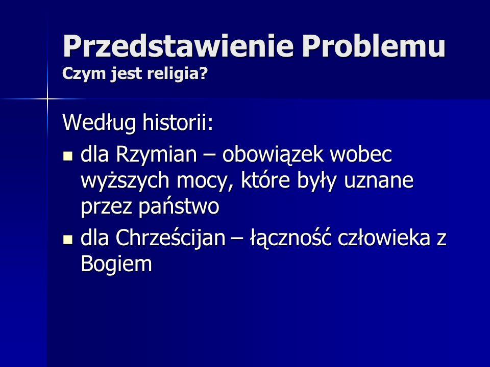 Przedstawienie Problemu Czym jest religia.