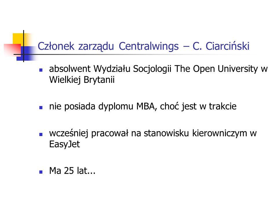 Członek zarządu Centralwings – C.