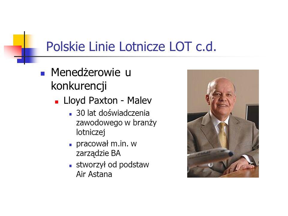 Polskie Linie Lotnicze LOT c.d.