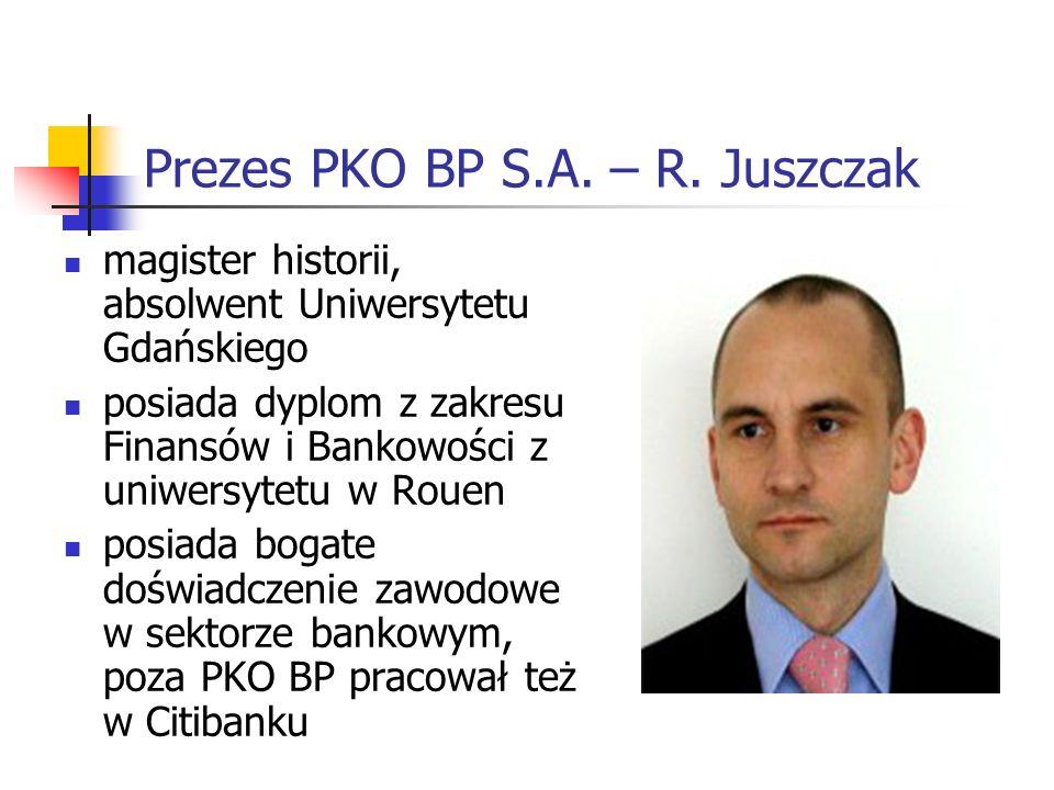 Prezes PKO BP S.A.– R.