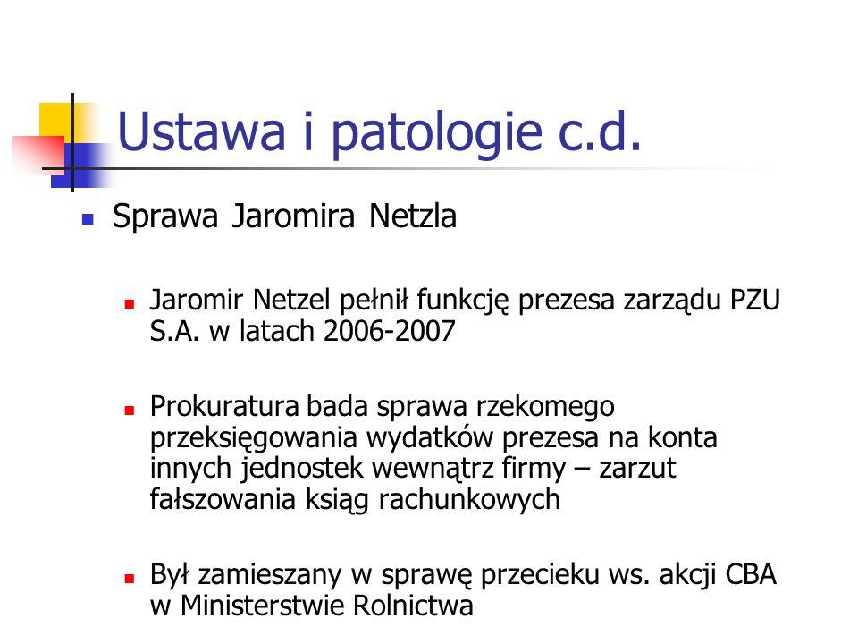 Ustawa i patologie c.d.