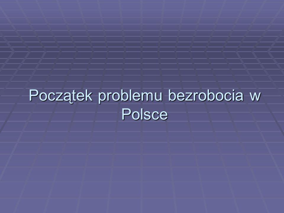 Początek problemu bezrobocia w Polsce