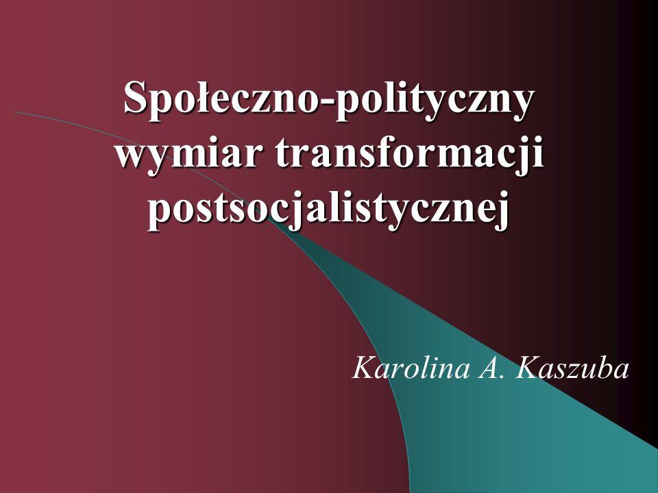 Społeczno-polityczny wymiar transformacji postsocjalistycznej Karolina A. Kaszuba