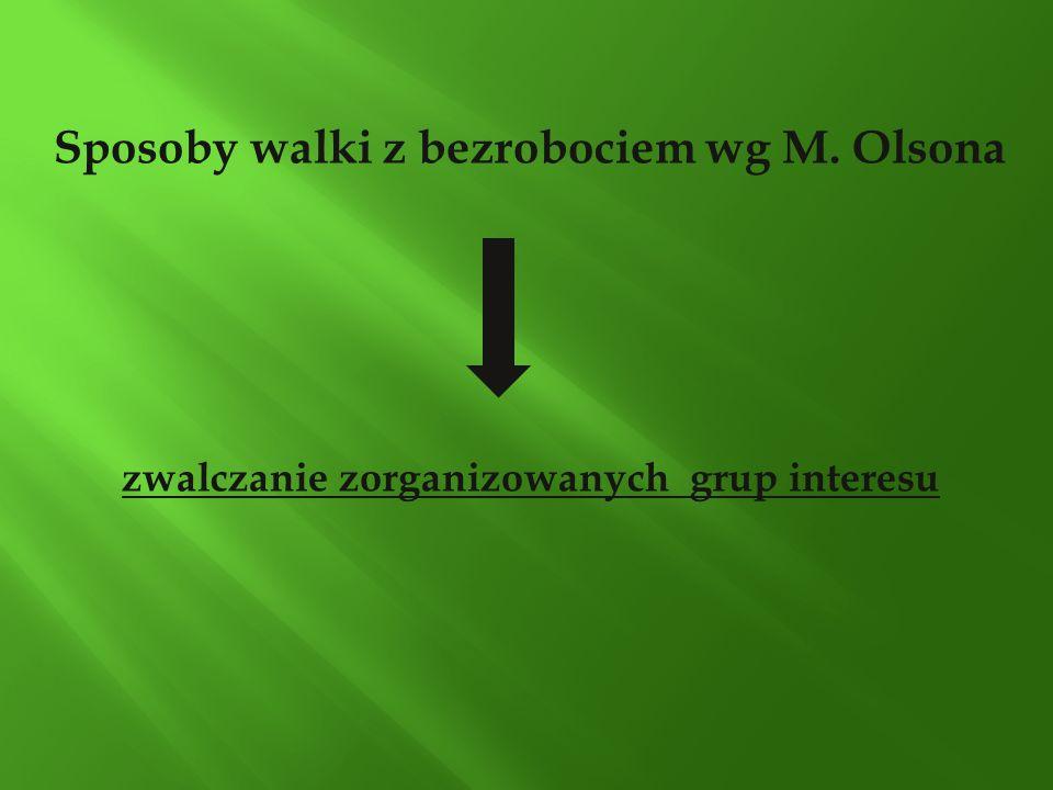 Sposoby walki z bezrobociem wg M. Olsona zwalczanie zorganizowanych grup interesu