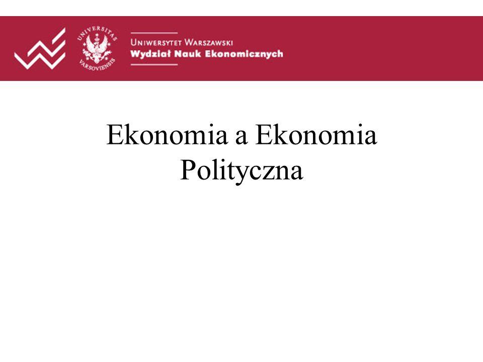 Klasyczna ekonomia polityczna- początki Smith, Ricardo procesy samoregulacji rynku nie interesowały ich związki rynku z demokratycznymi instytucjami państwa.